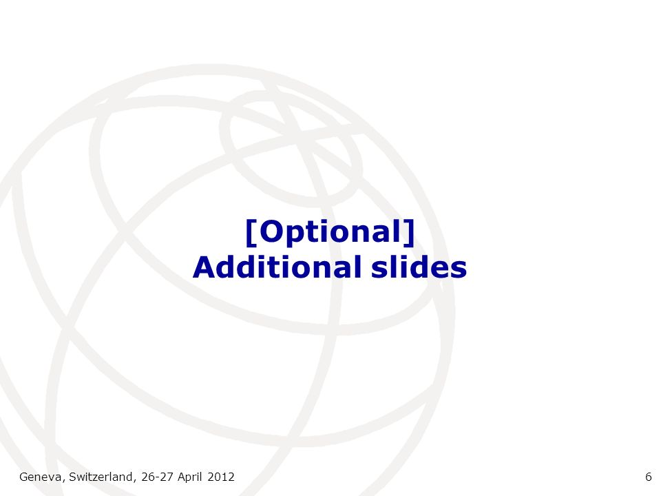 [Optional] Additional slides
